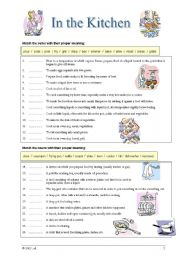 English Worksheet: Kitchen & Cooking - reverse dictionary