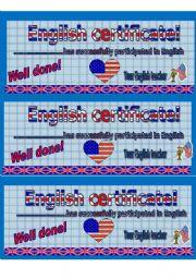 English Worksheet: English certificate