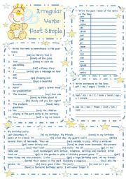 English Worksheet: Irregular verbs - Past simple