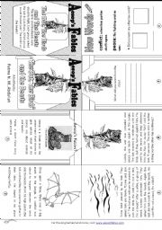 English Worksheet: Aesop´s Fables: The Bat, The Birds and The Beasts [ Mini-book ]