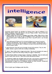 English Worksheets: intelligence