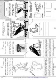 English Worksheet: Aesop´s Fables: The Crow and The Pitcher [ Mini-book ]