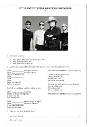English Worksheets: U2 - I Still  Haven´t Found What I´m Looking For
