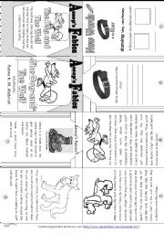 English Worksheet: Aesop´s Fables: The Wolf and the Dog [ Mini-book ]