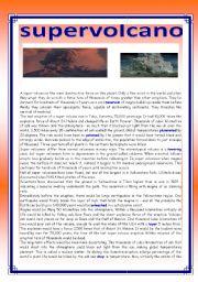 English Worksheets: supervolcano