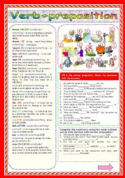 English Worksheets: Verb+preposition (Part 2)