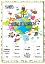 English Worksheets: ANIMALS IN THE WORLD