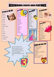 English Worksheets: desribing faces