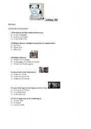 notting hill movie worksheet