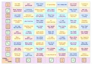 TENSES DICE GAME • FUN ACTIVITY for kids and adults • IRREGULAR VERBS AND ALL TENSES • 1 game board and 35 cards • FULLY EDITABLE