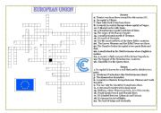 EUROPEAN UNION MEMBERS- CROSSWORD