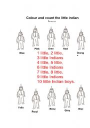 Ten little indians boys