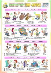 English Worksheet: Phrasal Verbs (Thirteenth series). Exercises (Part 2/3). Key included!!!