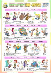 English Worksheets: Phrasal Verbs (Thirteenth series). Exercises (Part 2/3). Key included!!!