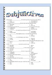 English Worksheet: Subjunctive Multiple Choice - Key Included