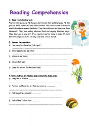 Printables Elementary Reading Comprehension Worksheets english teaching worksheets reading comprehension for kids