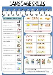 English Worksheets: Language Skills