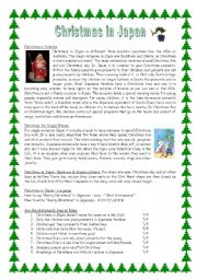 English Worksheet: Christmas in Japan with key