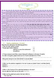 English Worksheet: 9TH FORM FULL TERM TEST