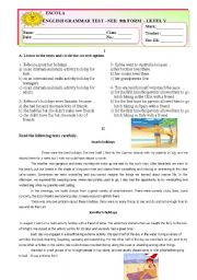 English Worksheets: Test Holidays for Students with special needs