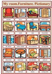 English Worksheets: Furniture( Pictionary)