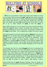 English Worksheet: BULLYING AT SCHOOLS