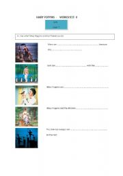 Mary Poppins Worksheet n° 8