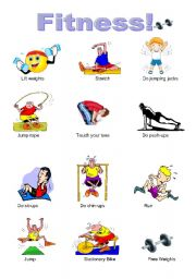 English Worksheet: Fitness Pictures
