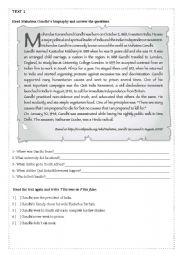English Worksheets: 10 reading comprehension (part 1 /05)