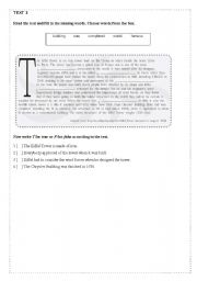 English Worksheets: 10 reading comprehension (Part 2 /05)