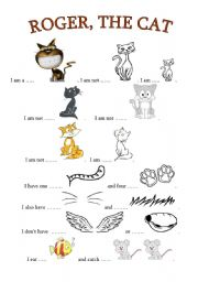 English Worksheets: Roger, the Cat