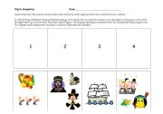 English Worksheets: Pilgrim Sequencing