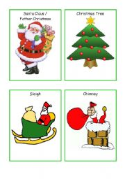 Christmas Flashcards- set of 24