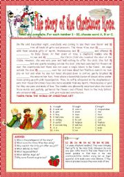 English Worksheet: THE STORY OF  THE CHRISTMAS ROSE.