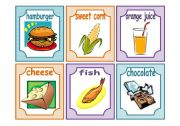 English Worksheet: FOOD:  24 FLASHCARDS!