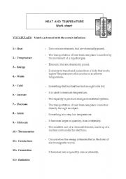 English Worksheet: Temperature