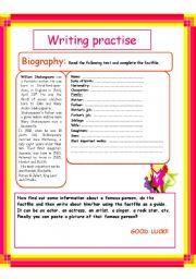 English Worksheets: Writing practise