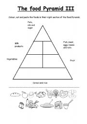 picture relating to Food Pyramid for Kids Printable referred to as The foodstuff pyramid III - ESL worksheet as a result of manna
