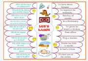 English Worksheets: Let�s laugh