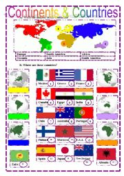 list of continents and their countries with capitals pdf