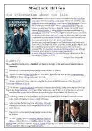 English Worksheet: Sherlock Holmes worksheet