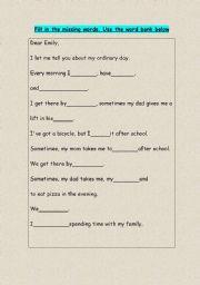 English Worksheets: My ordinary day