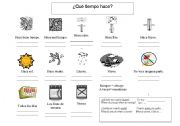 English Worksheets: Weather Expressions