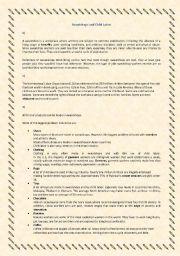 English Worksheets: Sweatshops and Child Labor : Reading Comprehension
