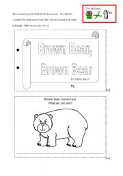 Brown Bear art project - (7 pages)