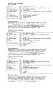 English Worksheet: Jules Verne Biography