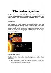 Solar System Comprehension Worksheets Grade 3 - Pics about ...