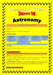 Astronomy :Lesson plan ( read and consider)2/4