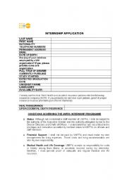 English Worksheets: internship