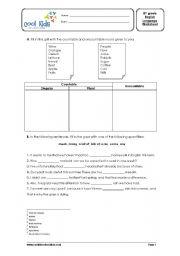 English worksheets 8th grade english worksheet